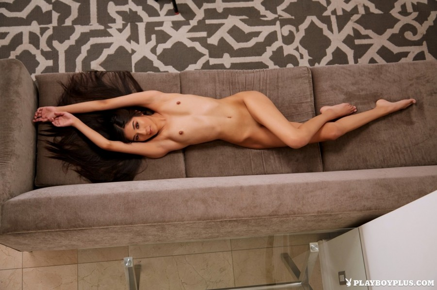 Dark-haired babe gets portion of fun