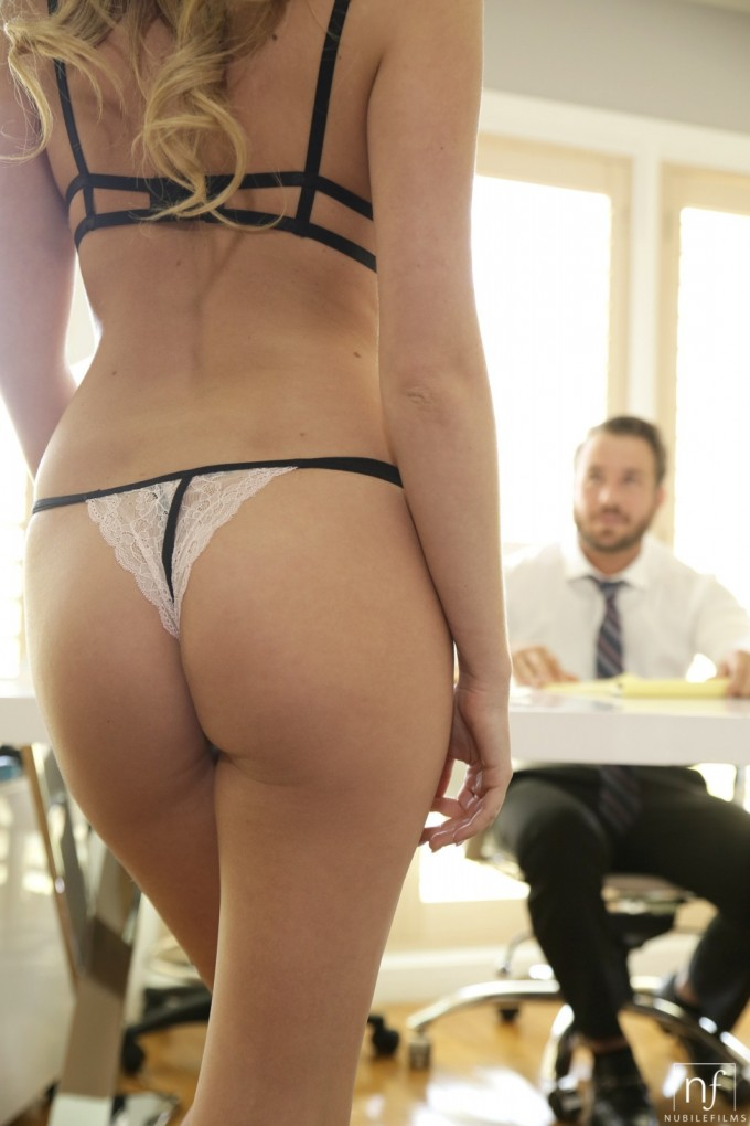 Hot secretary makes her boss very happy