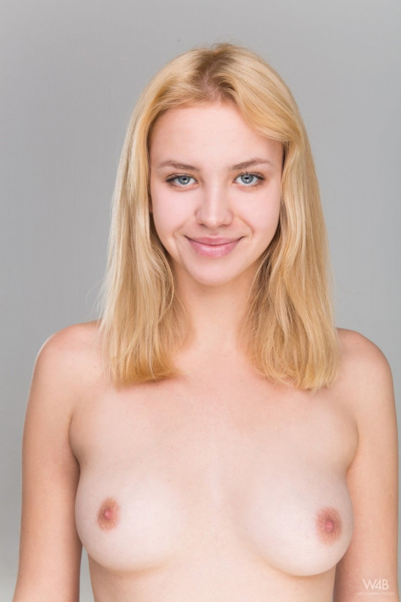 Adorable blonde at a porn casting call
