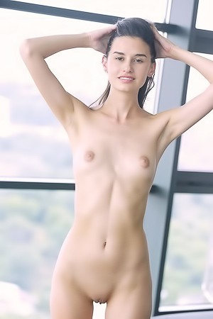 Tall Slim Girl Cristin M Getting Naked