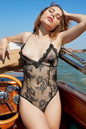 Stunning International Playmate Chiara Arrighi On Yacht