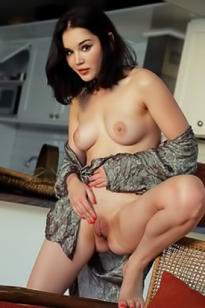 Hot Asian Babe Malena Spreads Her Legs