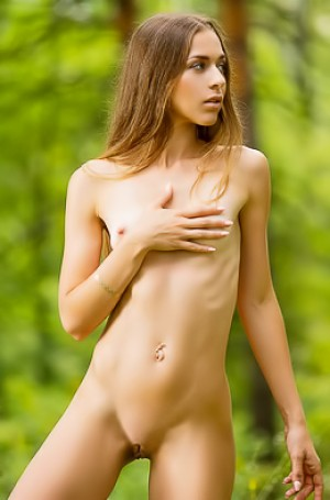 Riana D Stripping Naked Outdoors
